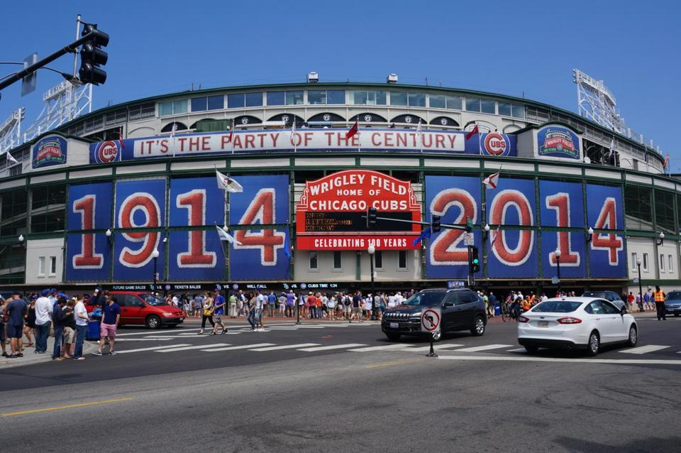 Wrigley Field, which is celebrating its 100th anniversary this year, is the second-oldest stadium after Fenway Park.
